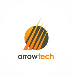 arrow technology logo vector image