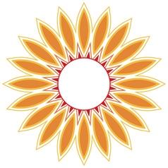 beautiful circular background fractal imag vector image
