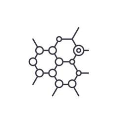 biochemistry line icon concept biochemistry vector image