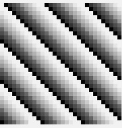 black and white abstract seamless pixel pattern vector image