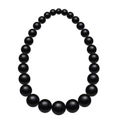 black pearls mockup realistic style vector image