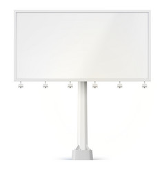 Blank billboard front view with lamps and the vector