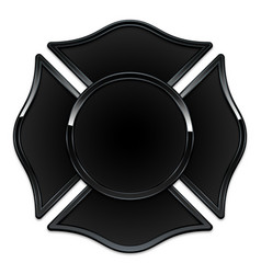 Blank fire rescue logo base black with black trim vector