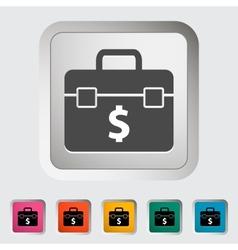 Briefcase single icon vector
