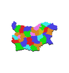 Bulgarian map with regions vector