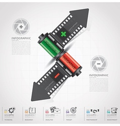 Business And Financial Infographic With Shutter vector