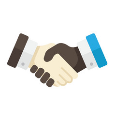 Business handshake flat icon contract agreement vector
