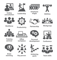Business management icons Pack 11 vector
