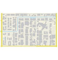 Cadastral plan industrial and commercial area vector