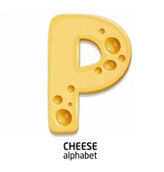 Cheese alphabet letter vector