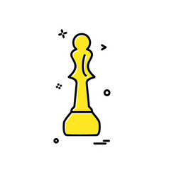 chess icon design vector image