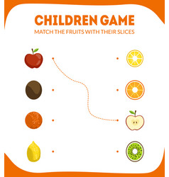 Children educational game for preschool kids vector