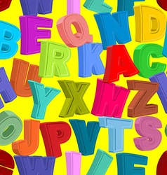 Color letters seamless pattern Childrens alphabet vector image