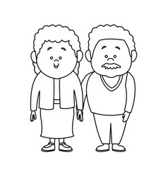 Couple of lovely people man and woman hold hands vector