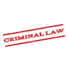 Criminal Law Watermark Stamp vector image