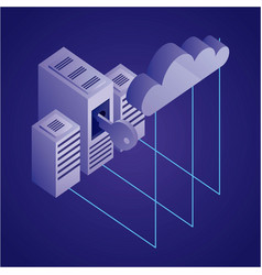 data network concept vector image