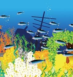 Deep blue sea vector