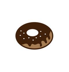 donut icon design vector image
