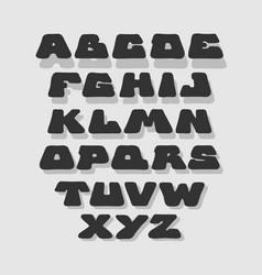 doodle bold comic style font alphabet vector image