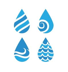 Drops with waves vector