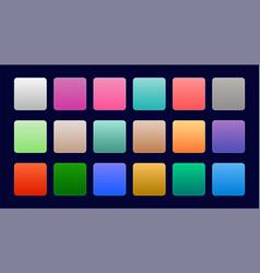 elegant set of colorful web gradients vector image