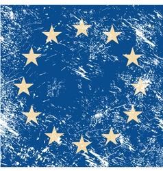 EU retro flag vector