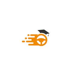 Fast driving school logo template vector