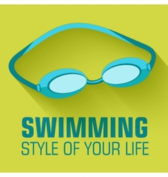 Flat sport swimming background concept desi vector