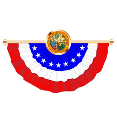 florida half round ribbon bunting with state motif vector image