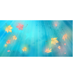 Flying autumn leaves vector