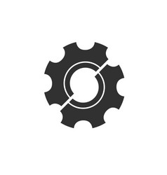 half gear logo design repair concept brocken vector image