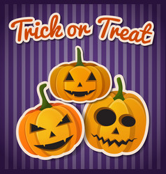 halloween festive autumn template vector image