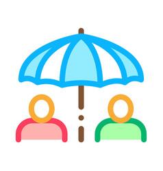 Human umbrella icon outline vector