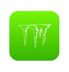 icicles icon digital green vector image