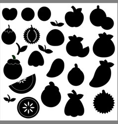 icon fruit set on a white background vector image