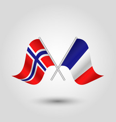 Icon of norway and france vector