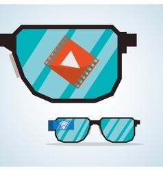 Internet design Online icon Colorful vector