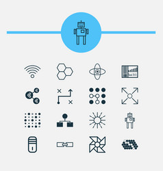Learning icons set collection of controlling vector