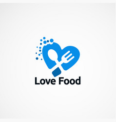 Love food logo designs concept icon element and vector