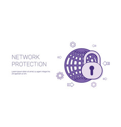 network protection web banner with copy space vector image