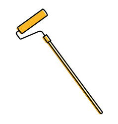 paint roller isolated icon vector image