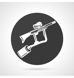 Paintball marker black round icon vector image