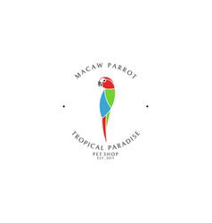 Pet shop logo template vector
