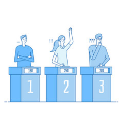 quiz show clever people trivia contest game tv vector image