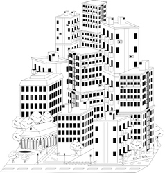 Residential quarter vector