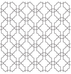 Seamless geometric pattern with thin lines vector