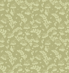Seamless pattern of ash and twigs with leaves vector