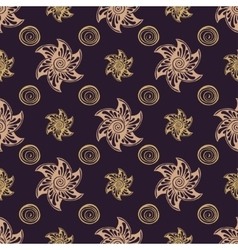 Seamless pattern rich dear background vector image