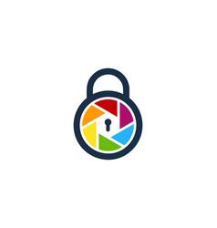Security camera logo icon design vector