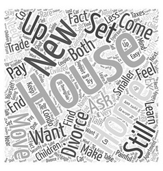 Setting up a new house Word Cloud Concept vector